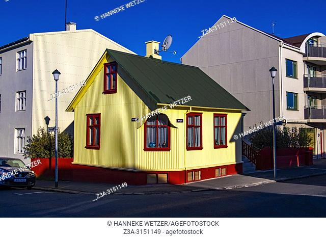 Traditional house in Reykjavik, Iceland