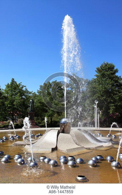 The Singing Fountain at the health and spa resort Marianske Lazne, Marienbad, West Bohemia, Czech Republic, Europe