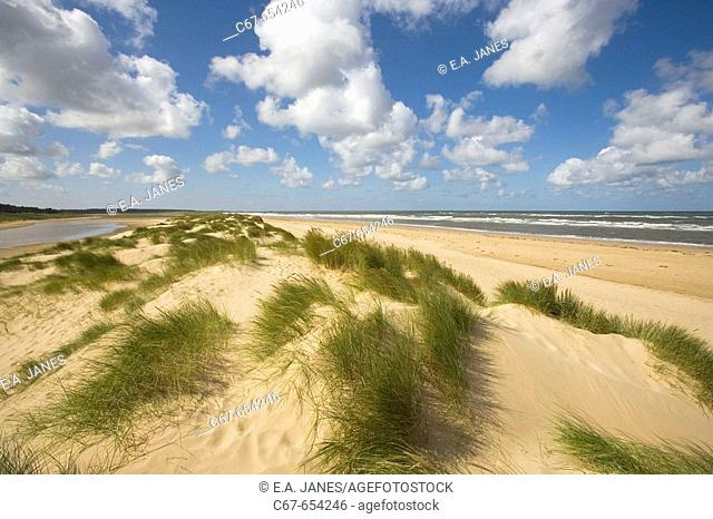 Holkham Beach North Norfolk Coast September. UK