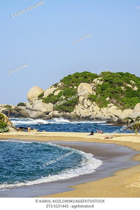 El Cabo San Juan del Guia beach, Tayrona National Natural Park, Magdalena Department, Caribbean, Colombia