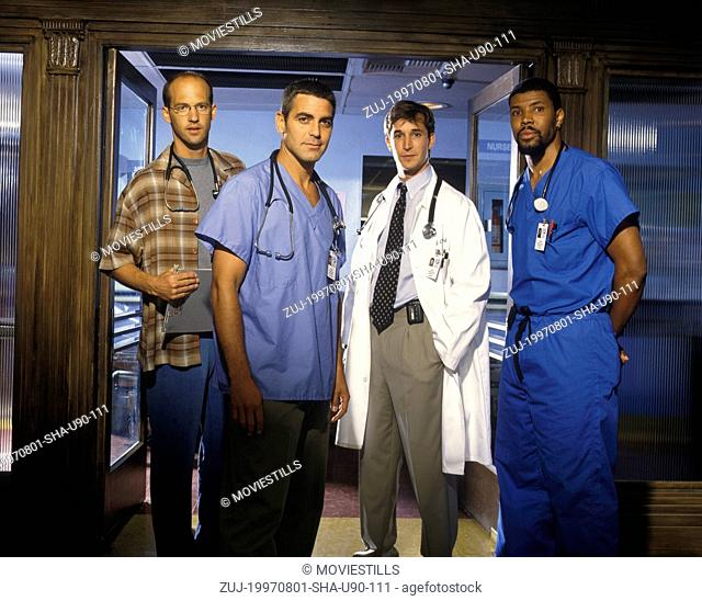 ER Anthony Edwards plays Dr Greene, George Clooney plays Dr Ross, Noah Wyle plays Dr Carter and Eriq La Salle plays Dr Benton.Date: 01/08/1997