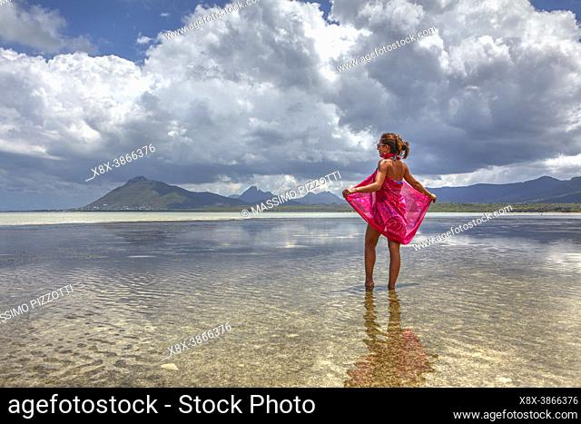Reflex in the water of Ile aux Benitiers, Mauritius