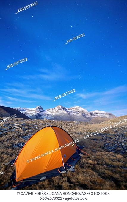 Camping at the National Park of Ordesa and Monte Perdido, Huesca, Spain