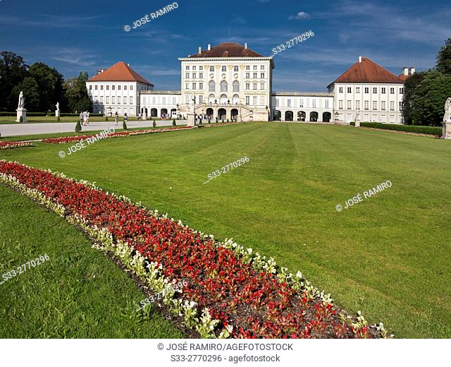 Nymphenburg Palace in Munich. Germany. Europe