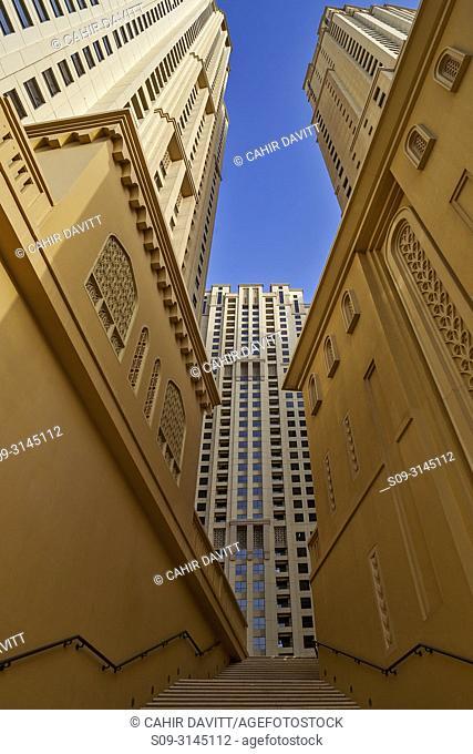 Residential towers in Dubai Marina, Emirates Hill Second, Dubai, Dubayy, United Arab Emirates