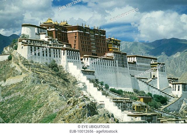 The Potala Palace. Angled exterior view