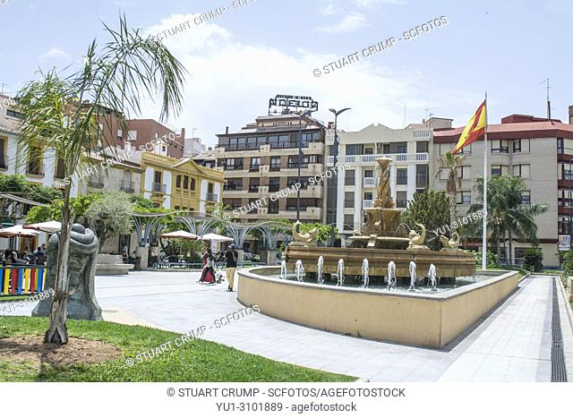 Plaza de Colon in the Spanish City of Lorca Murcia