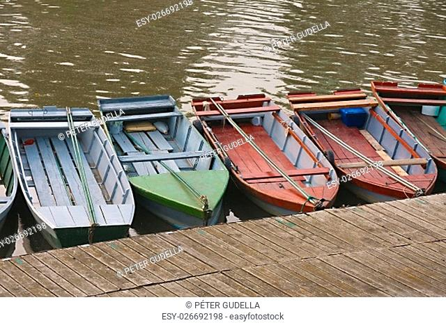 Simple boats at the jetty