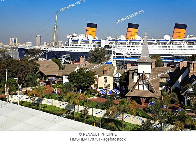 United States, California, Los Angeles, Long Beach, famous oceanliner The Queen Mary