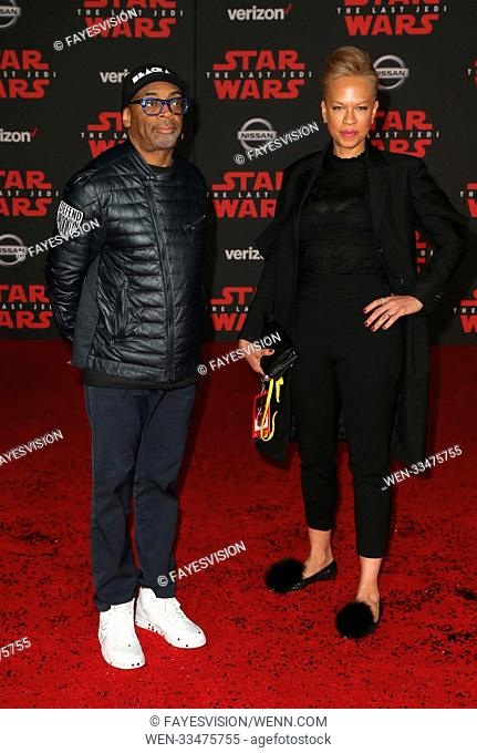 Premiere Of Disney Pictures And Lucasfilm's 'Star Wars: The Last Jedi' Featuring: Spike Lee, Tonya Lewis Lee Where: Los Angeles, California