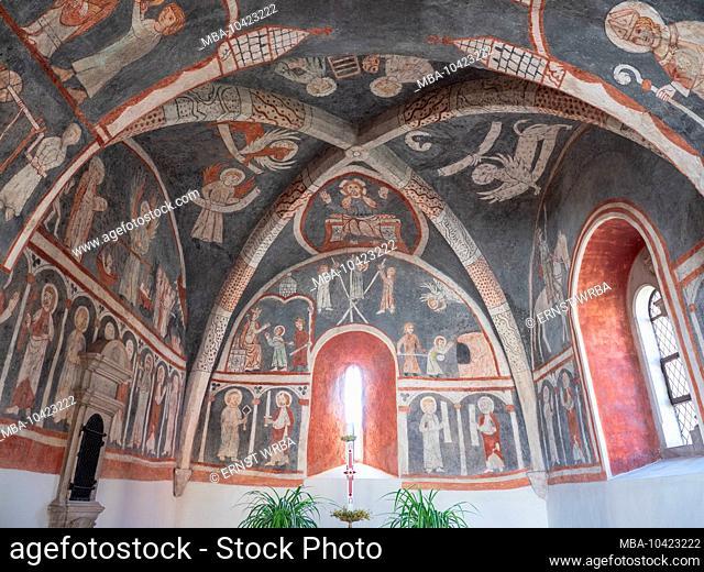 St. Vitus, Vitus chapel with frescoes from the 13th century, Kottingwörth, Dietfurt, Upper Palatinate, Bavaria, Germany
