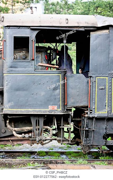 detail of steam locomotive (126.014), Resavica, Serbia