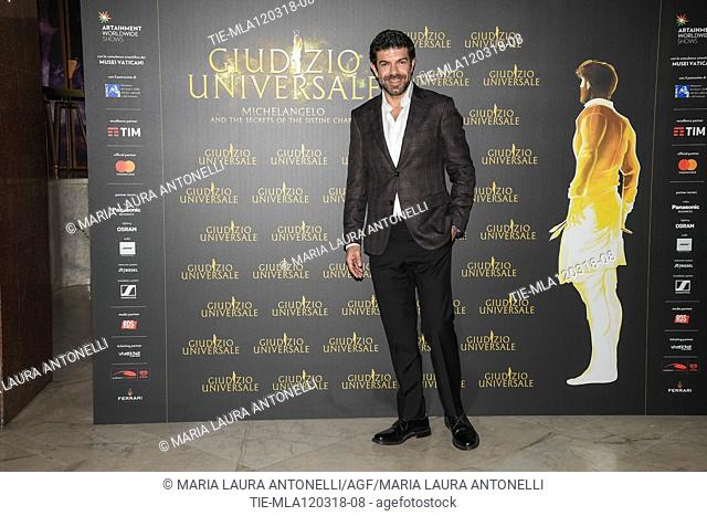 Actor Pierfrancesco Favino during the photocall of Live Show 'Giudizio Universale' Rome,ITALY-12-03-2018
