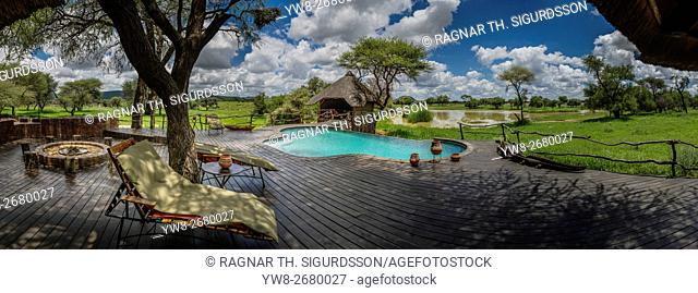 Swimming Pool at Okonjima Lodge, Namibia, Africa
