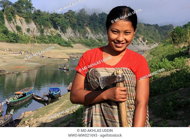 A woman from an ethnic community Thanchi in Bandarban, Bangladesh December 2, 2009