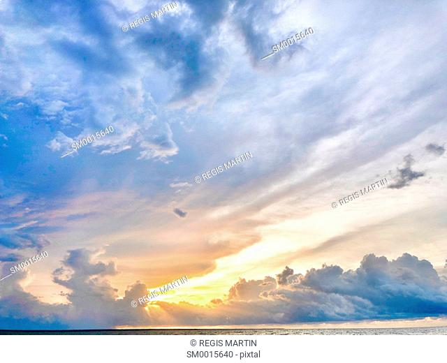 Cloudy sunset over Darwin Harbour, in the Northern Territory of Australia