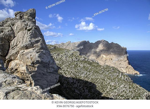 Cliff Formation on Formentor; Majorca; Spain