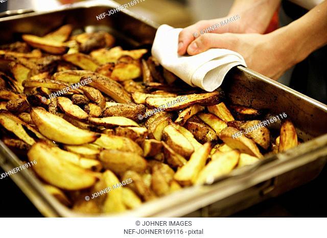 Potatoes in a Baking Tin