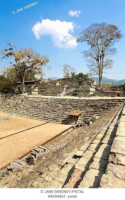 Patio de Los Jaguares, East Court, Mayan ruins of Copan, Honduras