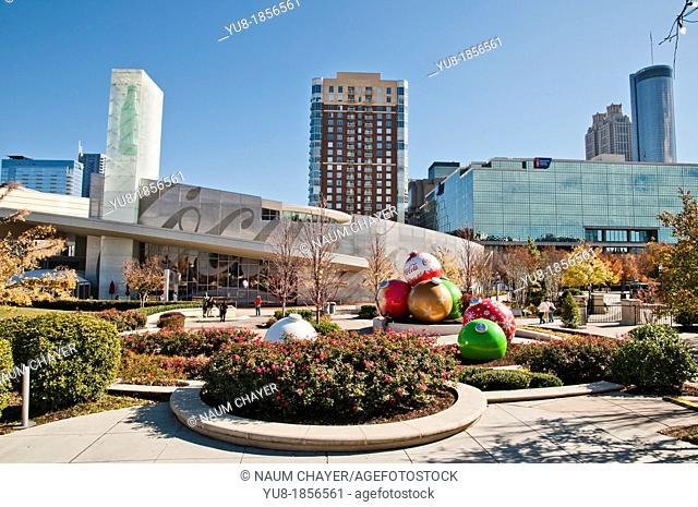 View of The World of Coca-Cola museum, Pemberton Place, Atlanta, Georgia, USA