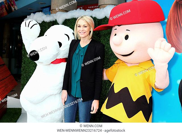 The UK gala screening of 'Snoopy and Charlie Brown: A Peanuts Movie' at Vue West End - Arrivals Featuring: Jenni Falconer Where: London