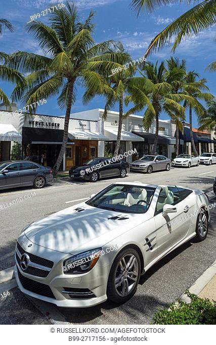 MERCEDES BENZ ROADSTER WORTH AVENUE PALM BEACH FLORIDA USA