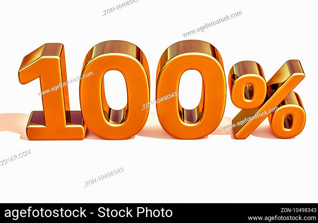 Gold Sale 100%, Golden Percent Off Discount Sign, Sale Promo, Special Offer 100% Off Discount Tag, Golden Hundred Percentages Sign, Golden 100%, Gold Total Sale