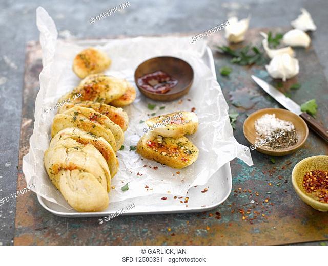 Spicy sriracha chilli bread