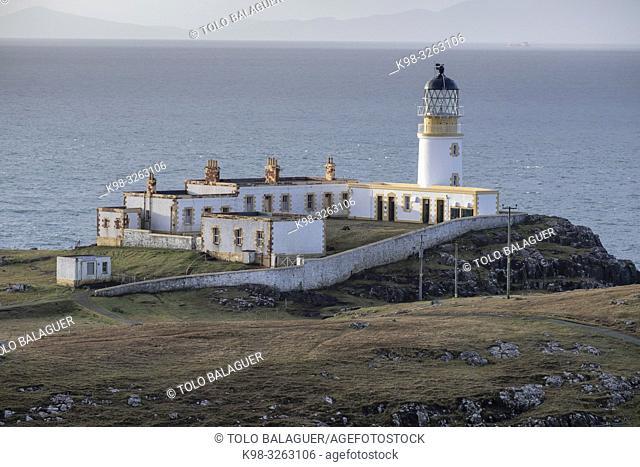 Lighthouse of Neist Point, designed by David Alan Stevenson, 1909, Highlands, Scotland, United Kingdom