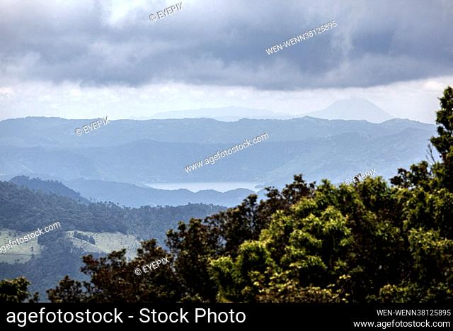 General view of a Corn field through the mist located at San Jose Pinula forest on September 2 2021 in Guatemala City, Guatemala Where: Guatemala City