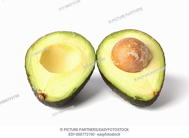 One avocado cut into two halves