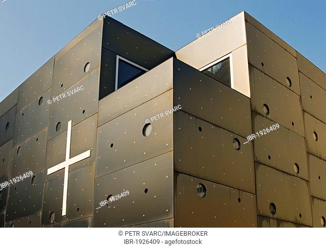 Donau City Church, Donaucitykirche, aka 'Christus, Hoffnung der Welt', 'Christ, Hope of the World', Roman Catholic church designed by architect Heinz Tesar