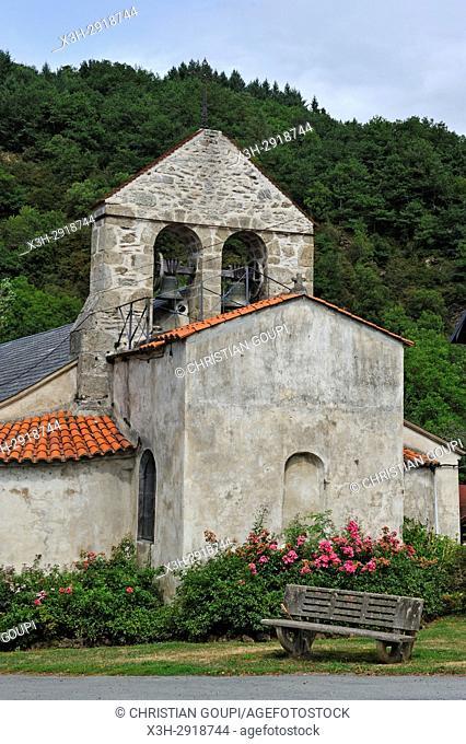 Romanesque Church of Lisseuil, Puy-de-Dome department, Auvergne-Rhone-Alpes region, France, Europe