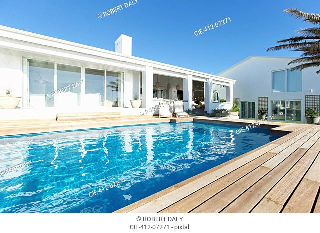 Luxury house and swimming pool