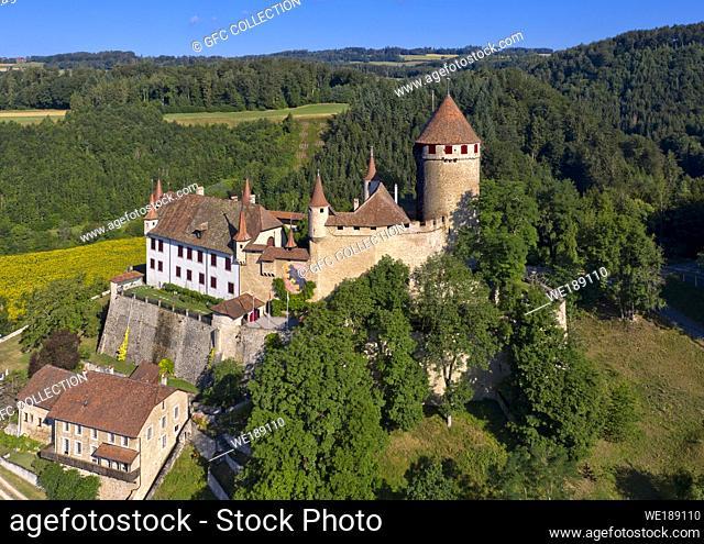 Lucens Castle, Chateau de Lucens, Lucens, Vaud, Switzerland