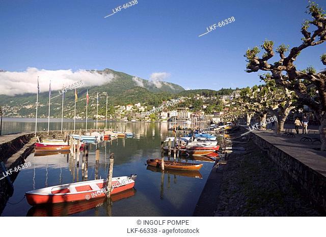 Harbour at Lake Maggiore, Ascona, Ticino, Switzerland