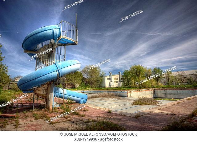 Abandoned water park, Aranjuez, Spain