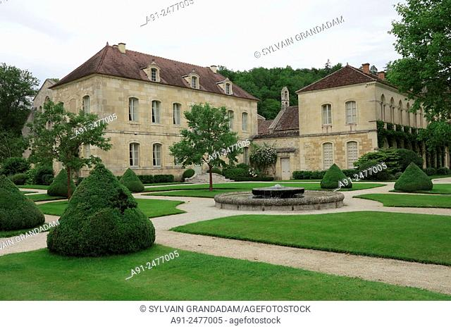 France, Burgundy, Cote d'Or (21), cistercian abbey of Fontenay founded in 1118 by Saint Bernard listed by the UNESCO as world heritage