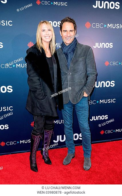 2018 JUNO Awards, held at the Rogers Arena in Vancouver, Canada. Featuring: Janet Holden, Eric McCormack Where: Vancouver, British Columbia