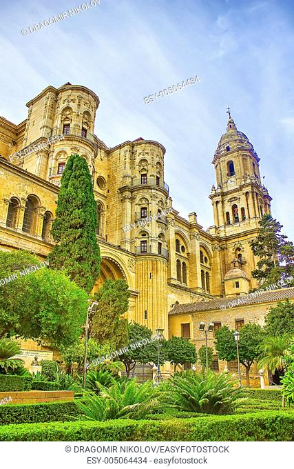 Malaga Cathedral in Andalusia