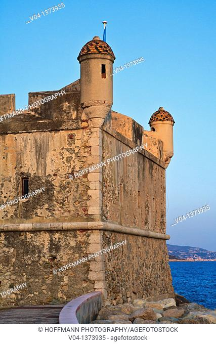 Historic fort in Menton, France, Europe