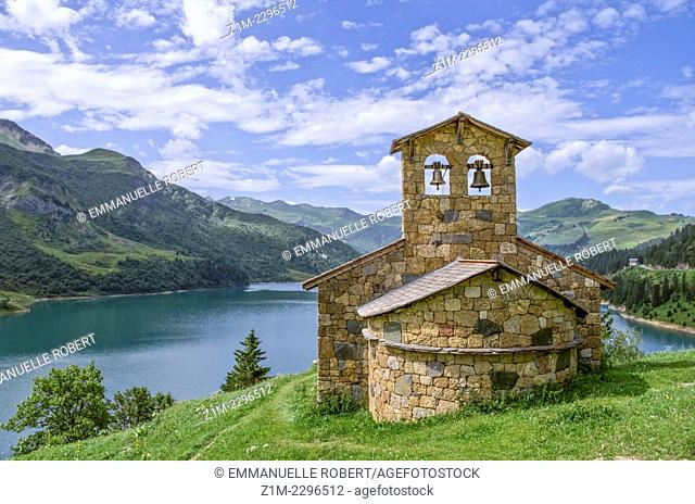 France, Alps,Roselend Lake in summer