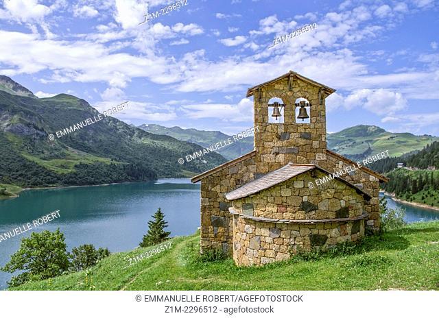 France, Alps,Roselend Lake in summer