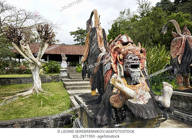 Barong statue in the Tirta Gangga water palace, a former royal palace. Karangasem regency, Bali, Indonesia