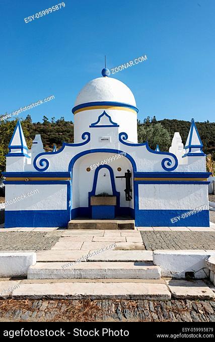 Fonte de Telheiro Ornamental fountain in village near Monsaraz Alentejo Portugal
