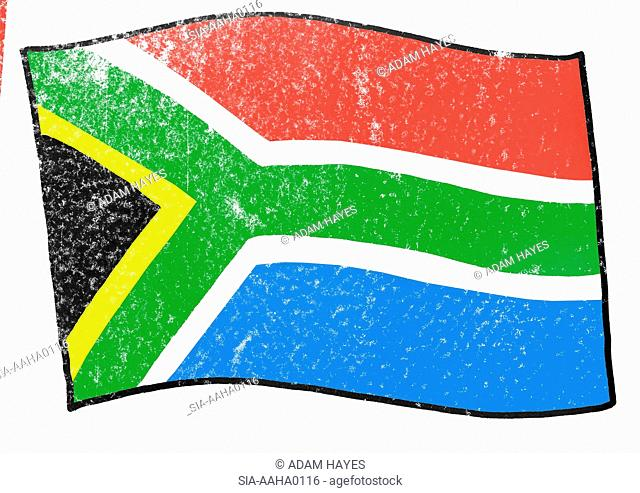 View of flag of South Africa
