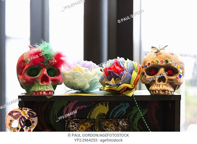 Tacoma, Washington: Offerings on display at Día de los Muertos Community Festival at the Tacoma Art Museum