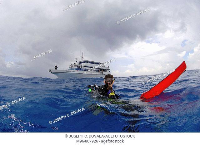 Scuba diver lost at sea found with marker buoy