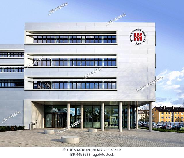 Main campus of the University of Hildesheim, Building N, forum and lecture hall, Marienburger Höhe, Hildesheim, Lower Saxony, Germany