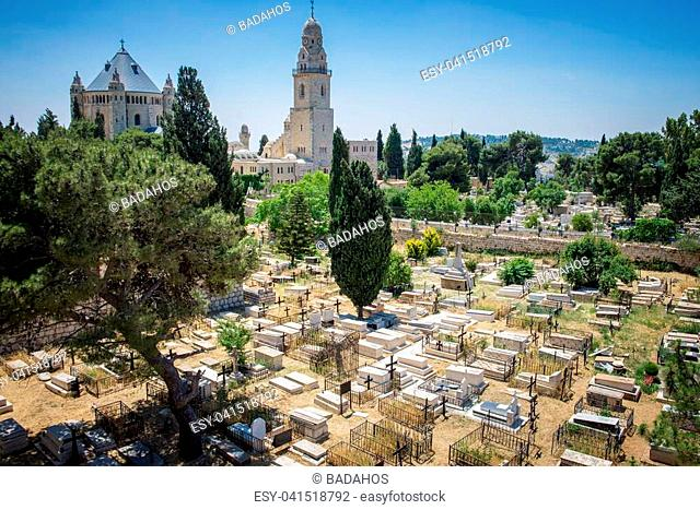 cemetery in Jerusalem at day